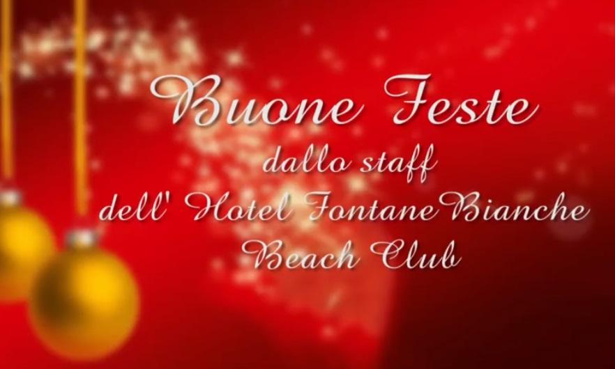 Buone Feste da Hotel Fontane Bianche