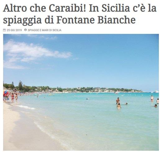 """""""Altro che Caraibi! In Sicilia c'è Fontane Bianche"""""""